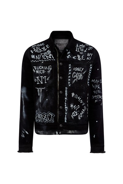 Jeansjacke District-No1 Hand Painted